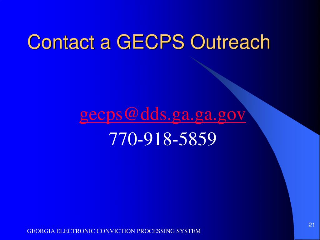 Contact a GECPS Outreach
