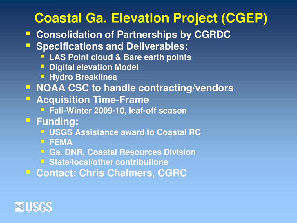 Coastal Ga. Elevation Project (CGEP)