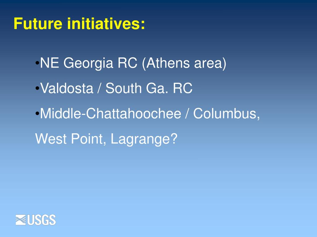 Future initiatives: