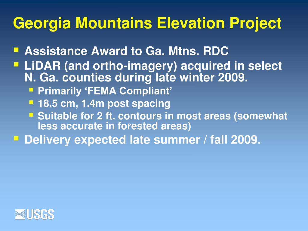 Georgia Mountains Elevation Project