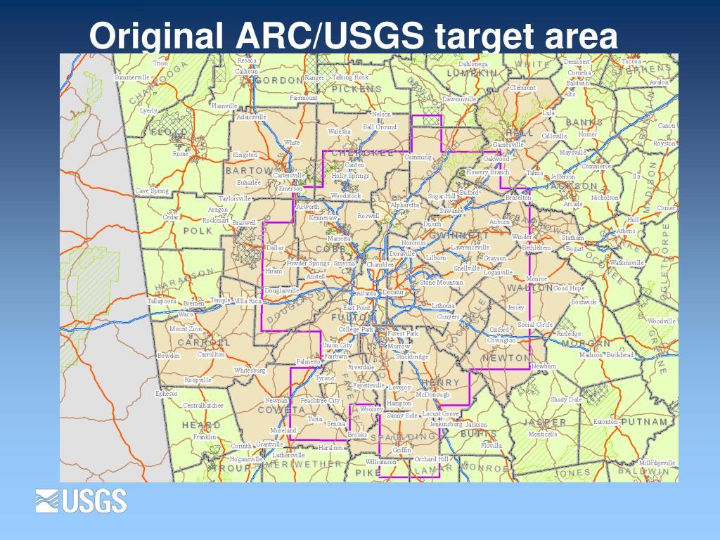 Original ARC/USGS target area