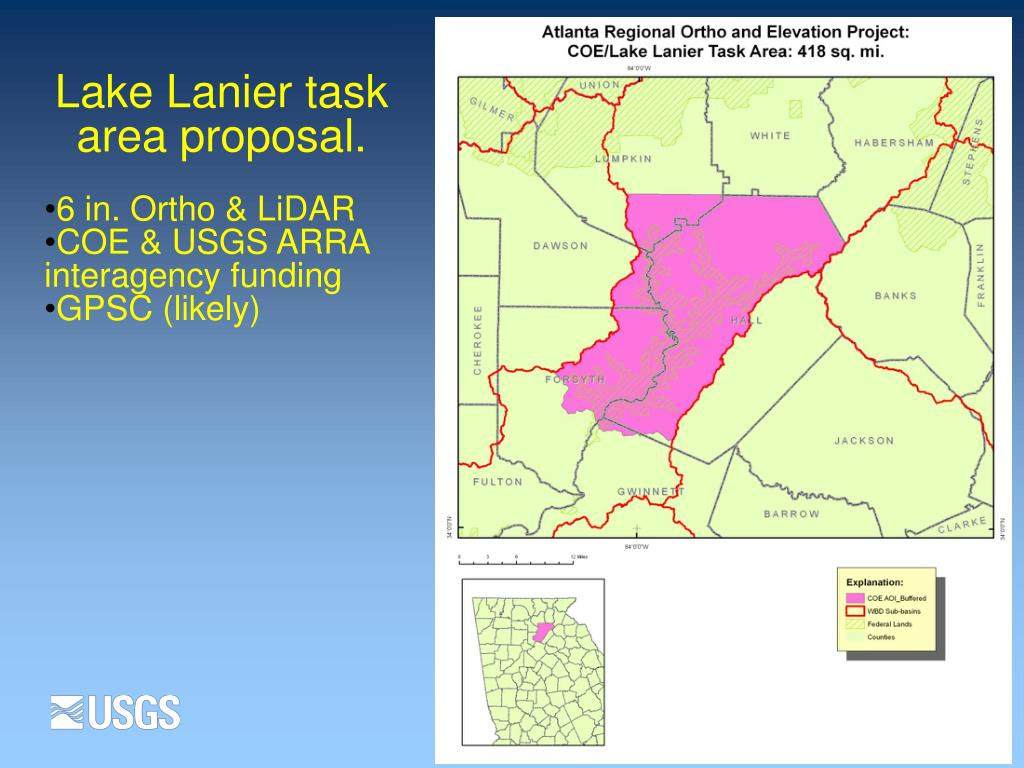 Lake Lanier task area proposal.