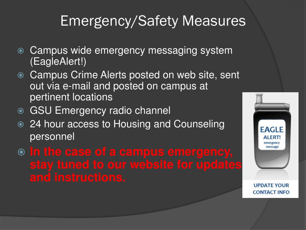 Emergency/Safety Measures