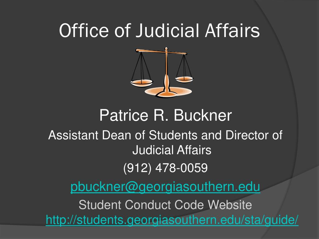 Office of Judicial Affairs