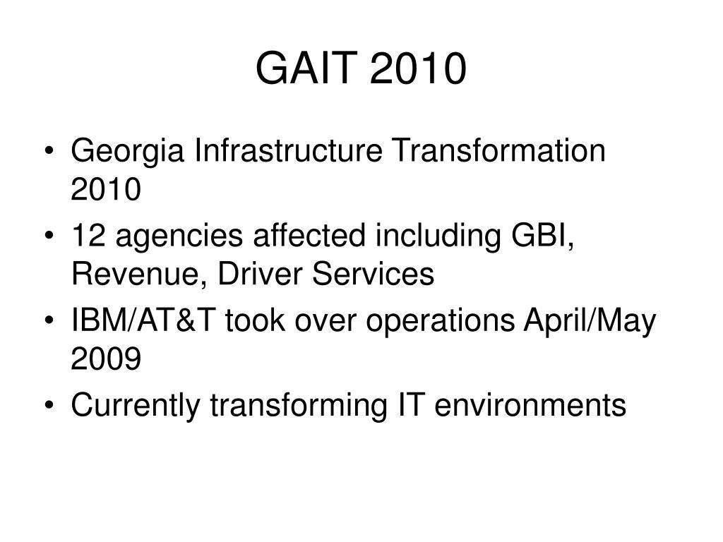 GAIT 2010
