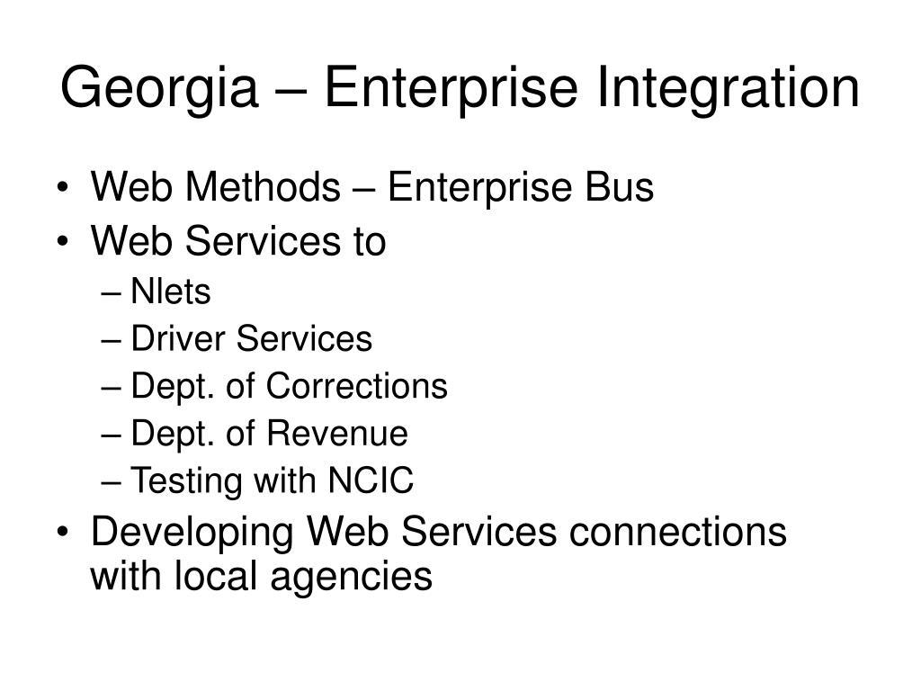 Georgia – Enterprise Integration