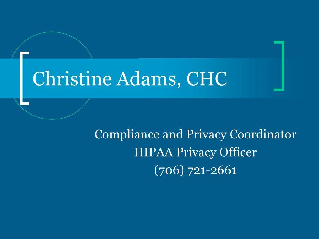 Christine Adams, CHC