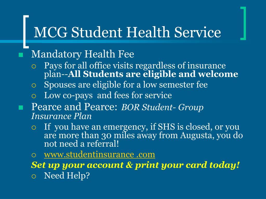 MCG Student Health Service