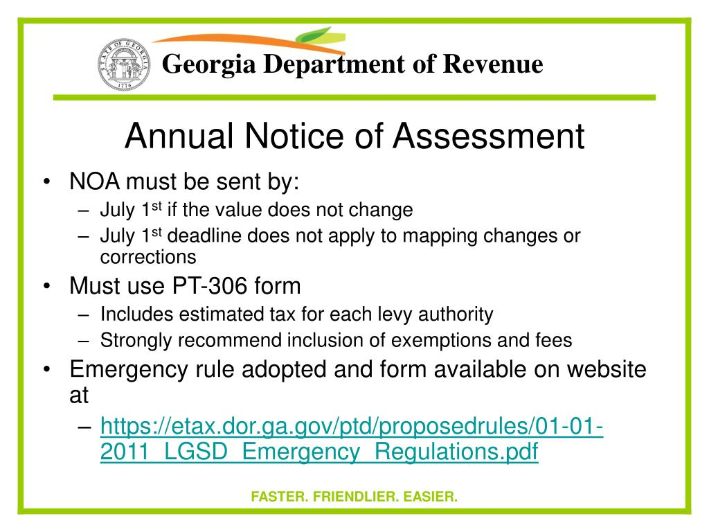 Annual Notice of Assessment