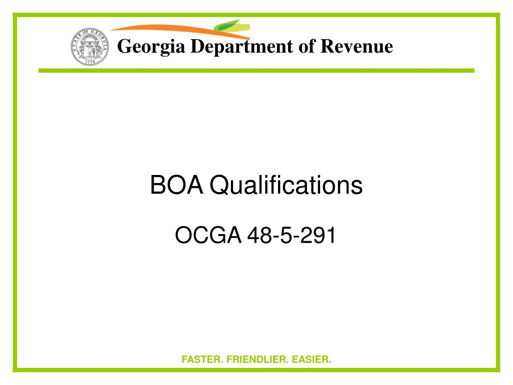 BOA Qualifications