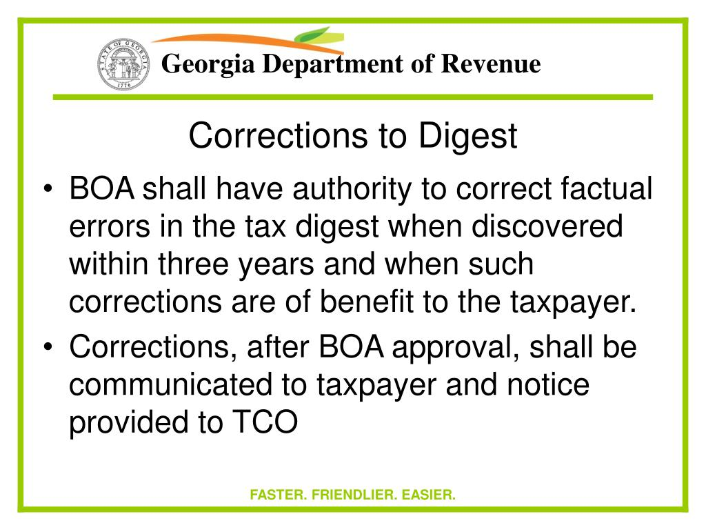 Corrections to Digest