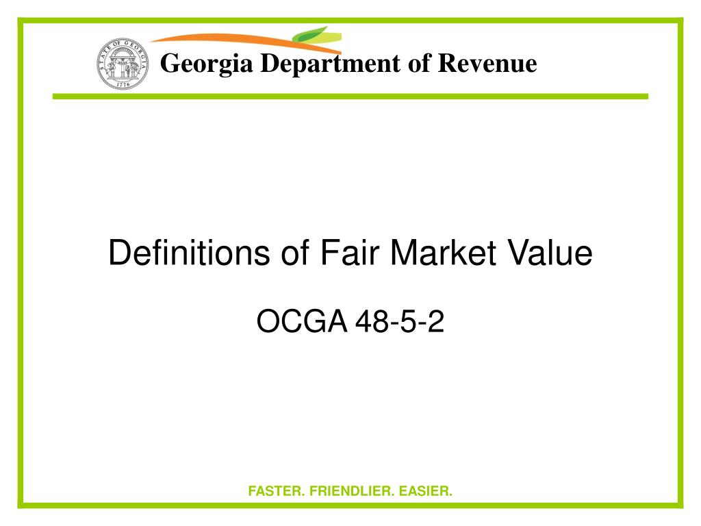 Definitions of Fair Market Value