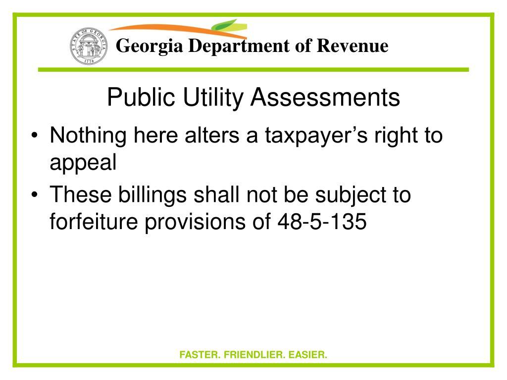 Public Utility Assessments