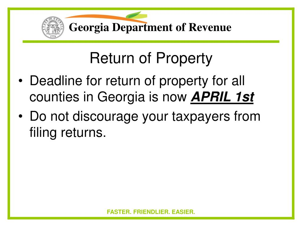 Return of Property