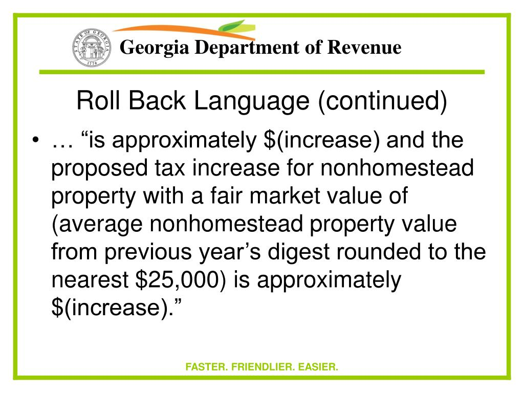Roll Back Language (continued)