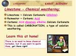 limestone chemical weathering