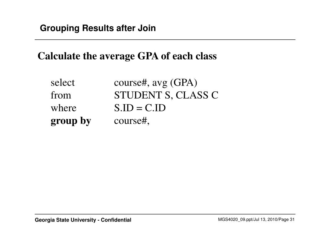 Grouping Results after Join
