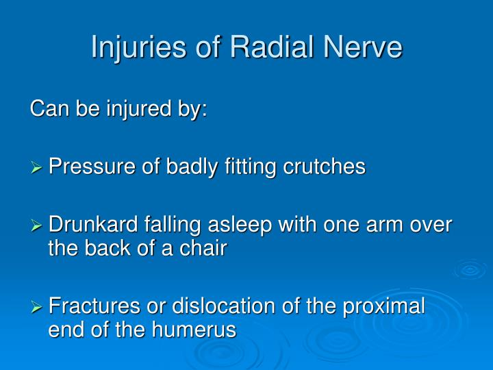 Injuries of Radial Nerve