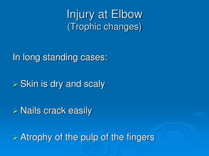 Injury at Elbow
