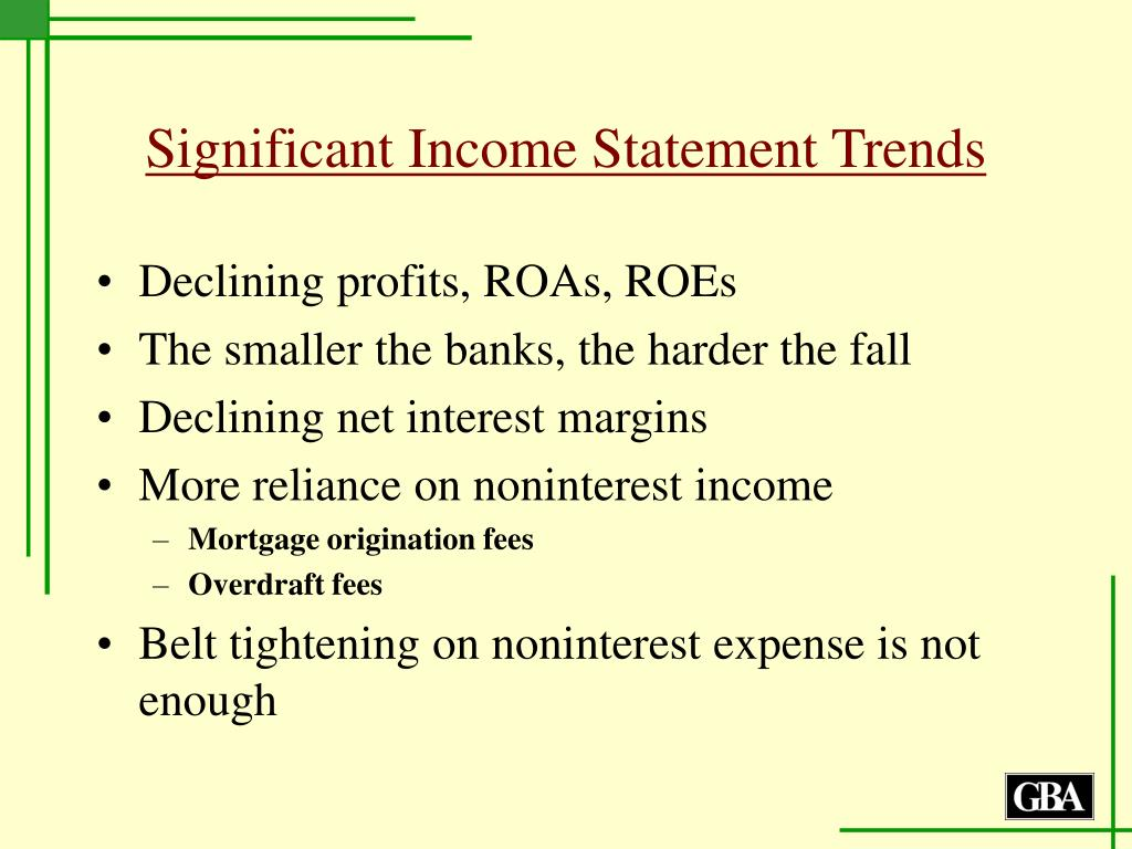 Significant Income Statement Trends