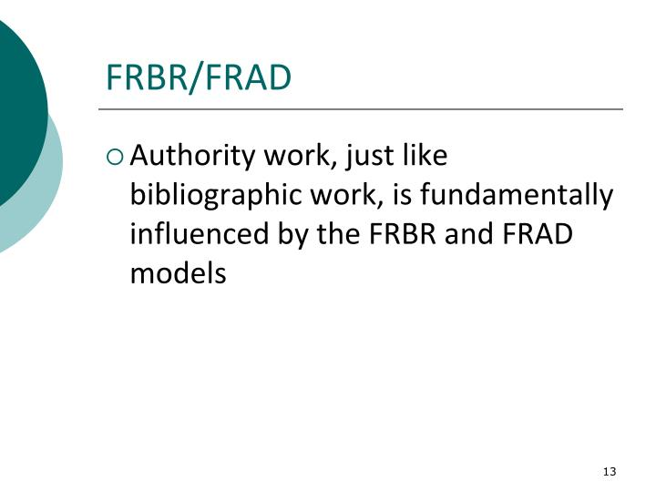 FRBR/FRAD