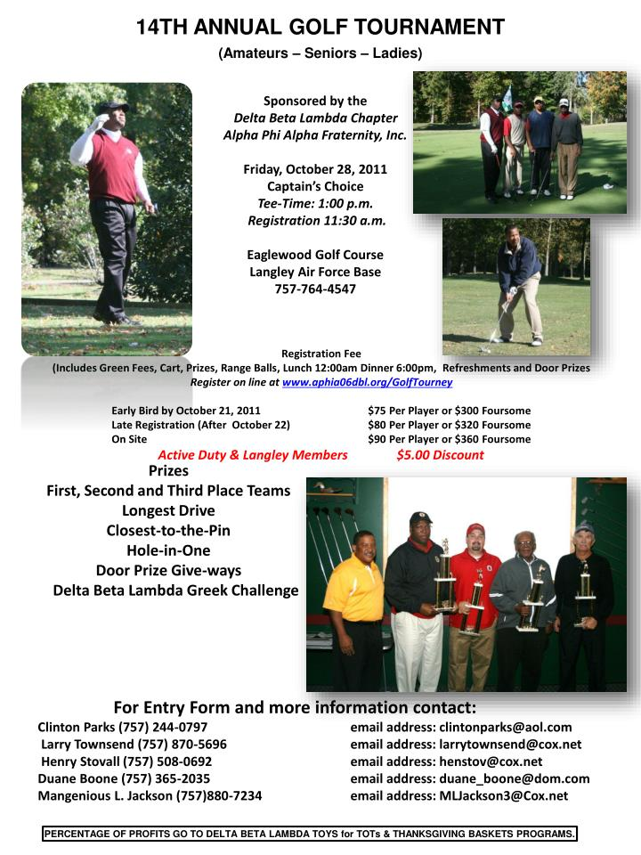 14TH ANNUAL GOLF TOURNAMENT