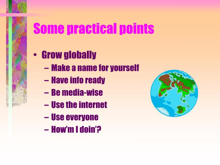 Some practical points