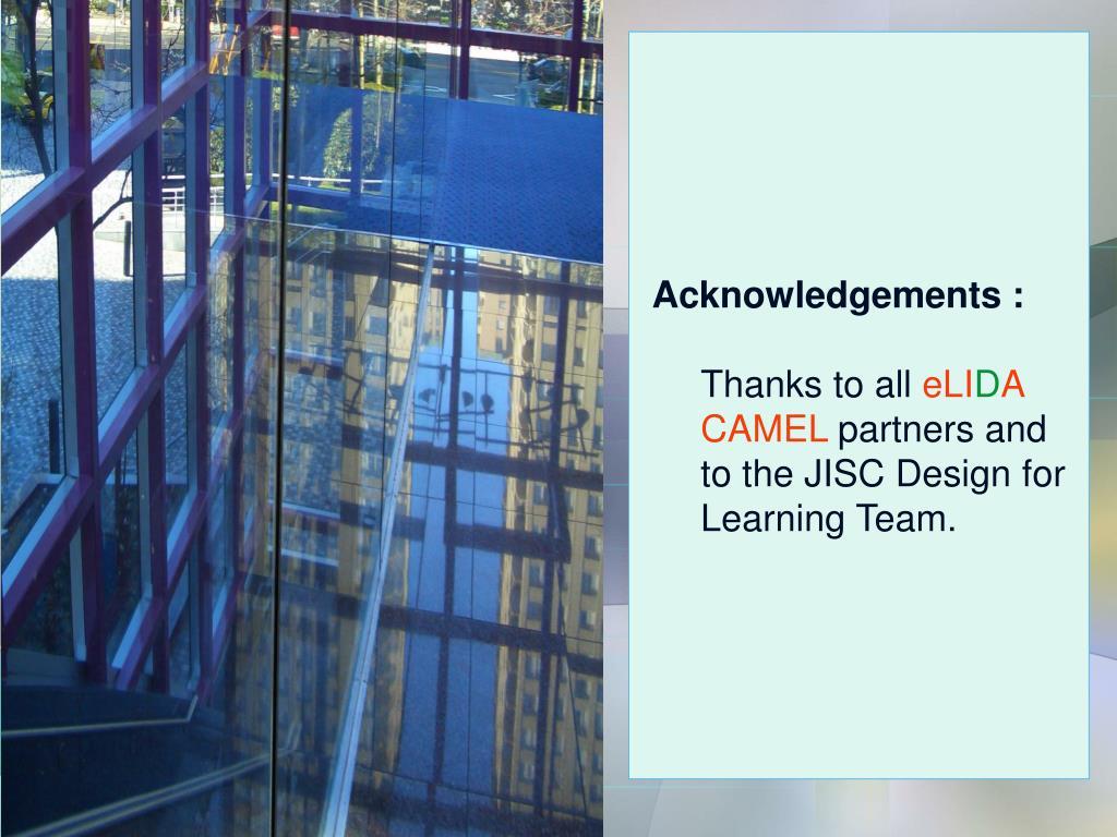 Acknowledgements :