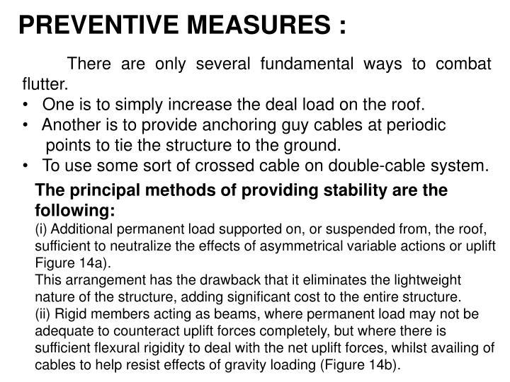 PREVENTIVE MEASURES :