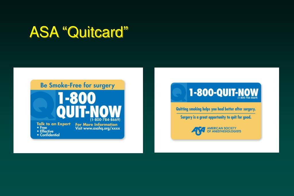 """ASA """"Quitcard"""""""