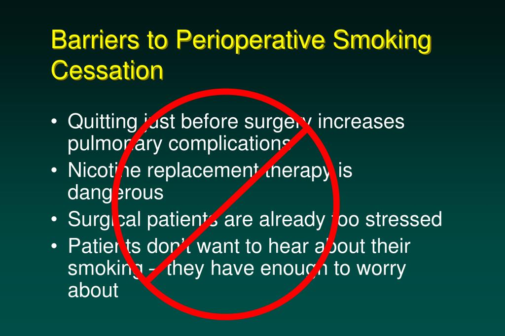 Barriers to Perioperative Smoking Cessation