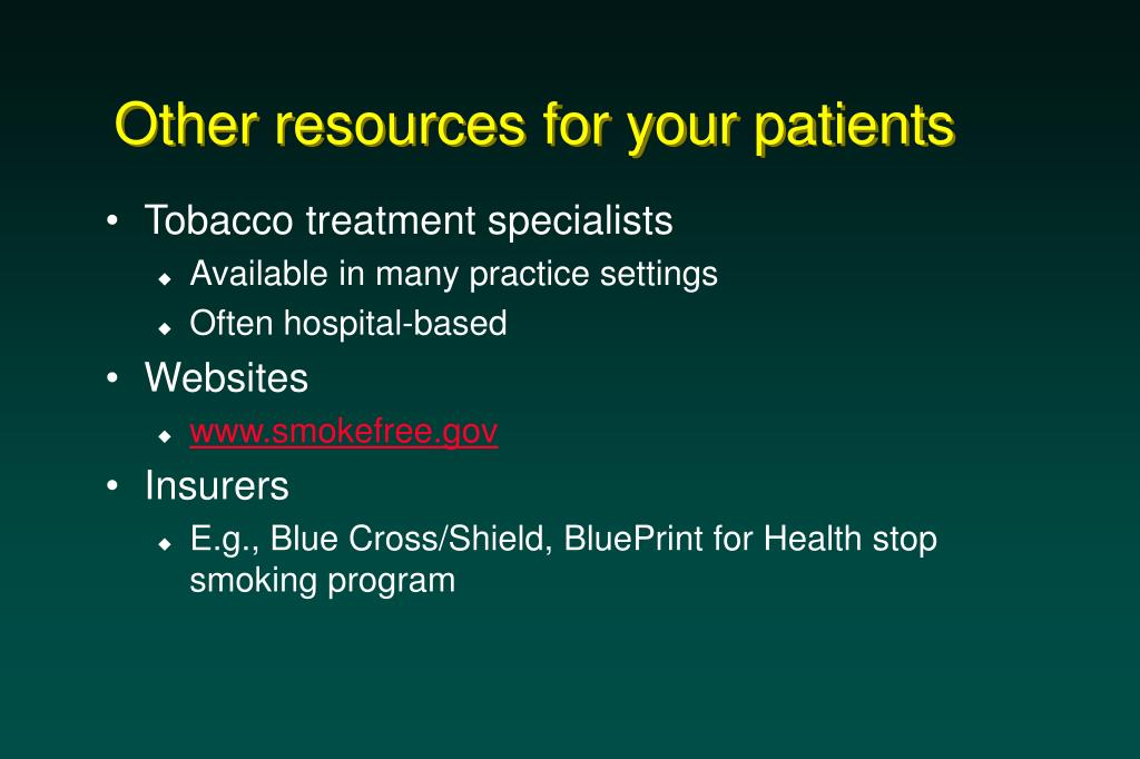 Other resources for your patients