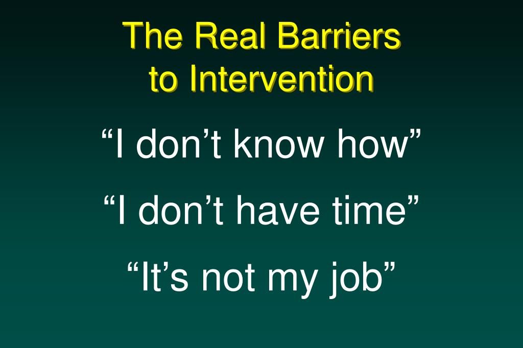 The Real Barriers