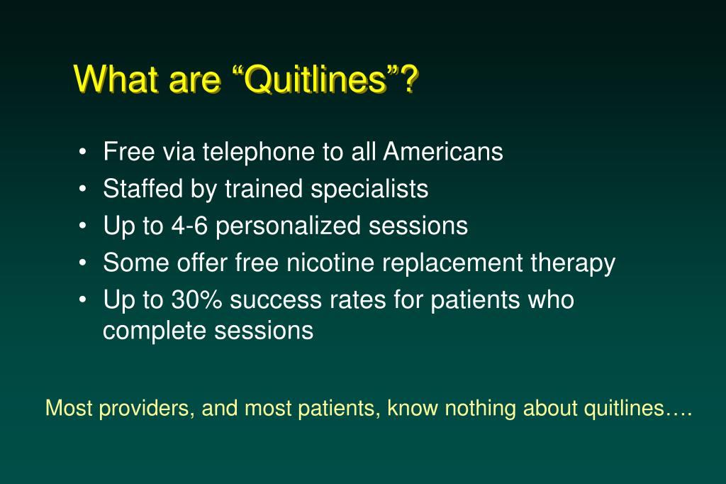 """What are """"Quitlines""""?"""