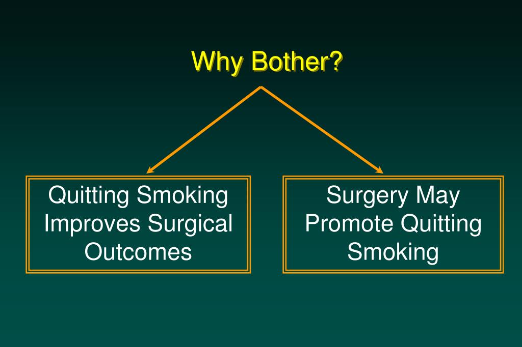 Quitting Smoking Improves Surgical Outcomes