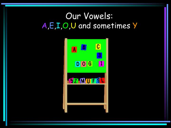 Our Vowels: