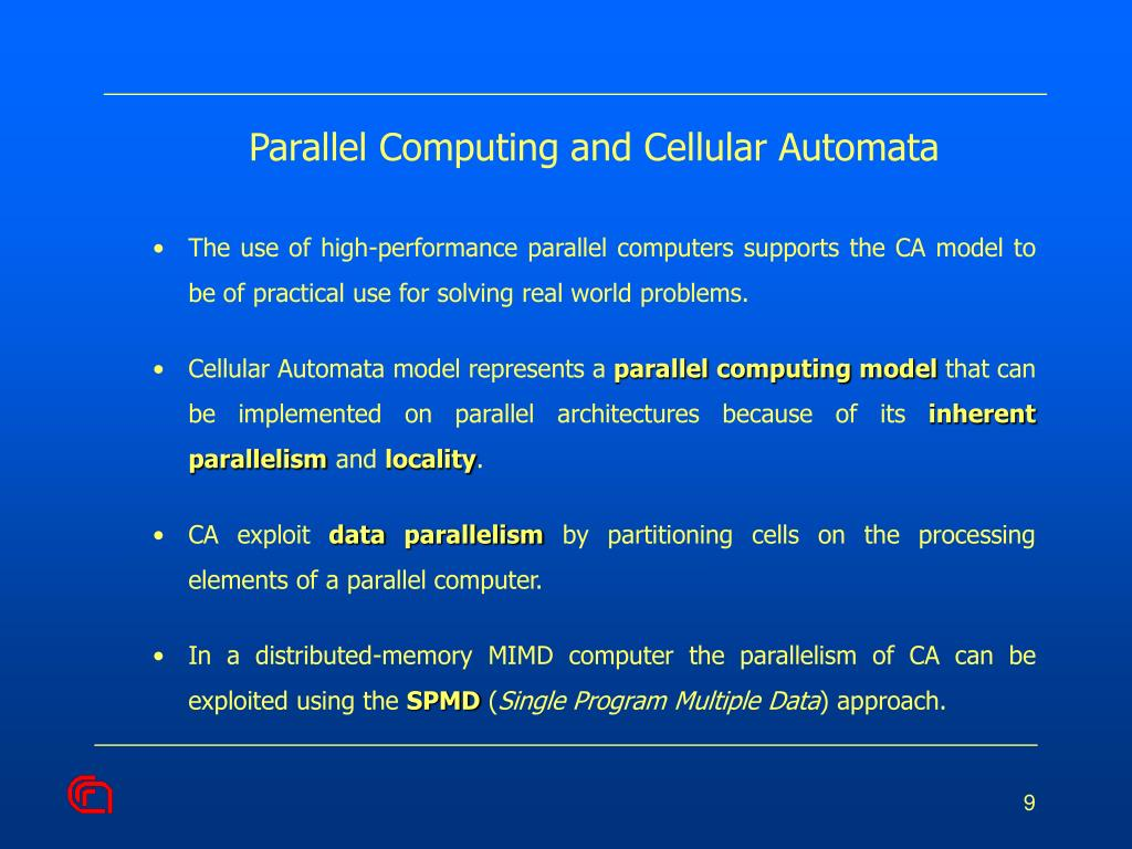Parallel Computing and Cellular Automata
