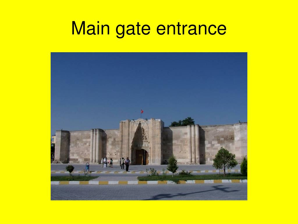 Main gate entrance