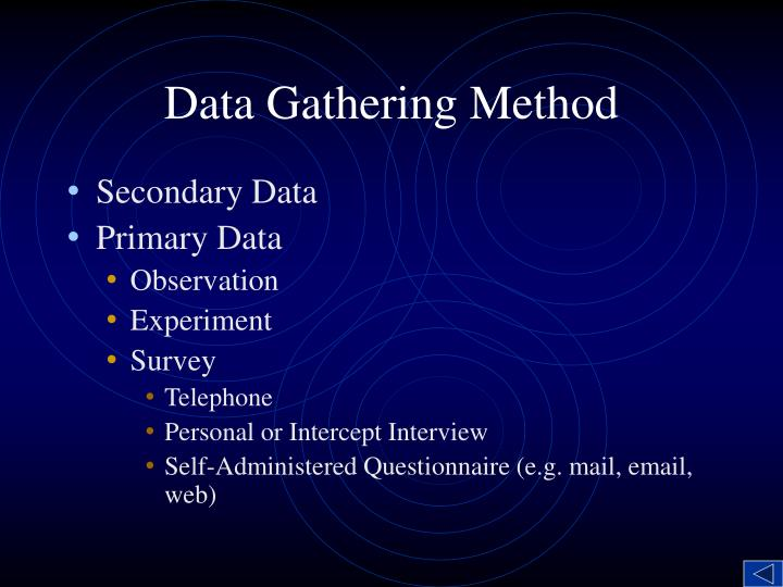 Data Gathering Method