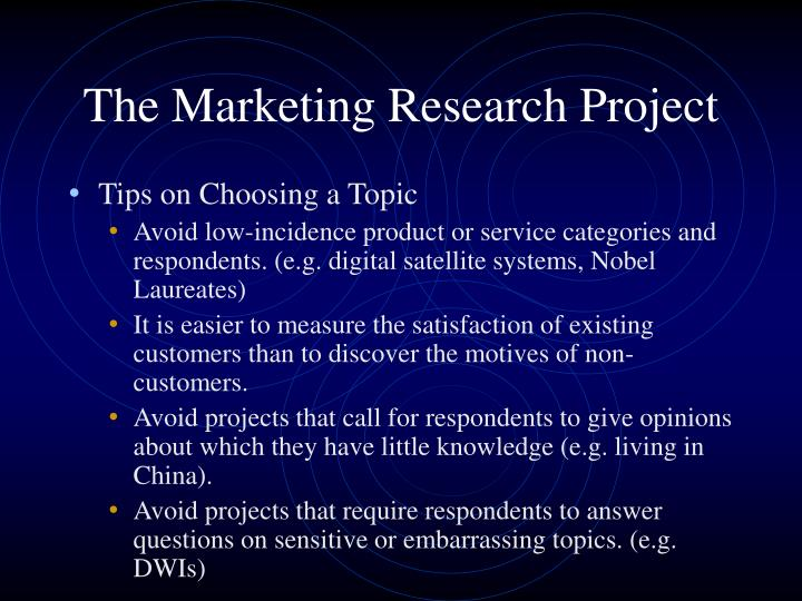 The marketing research project2