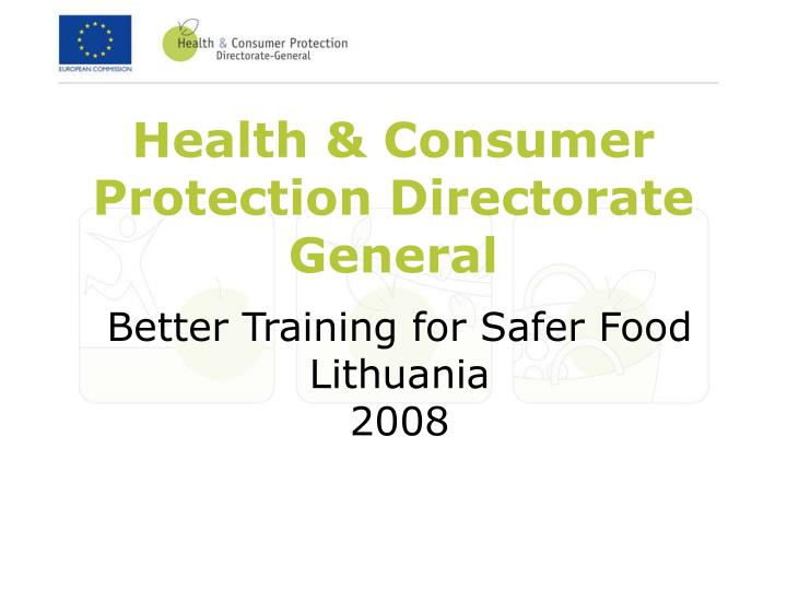 health consumer protection directorate general