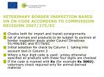 veterinary border inspection based on cn code according to commission decision 2007 275 ec
