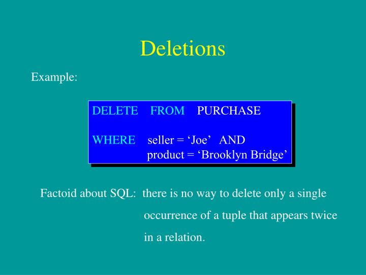 Deletions
