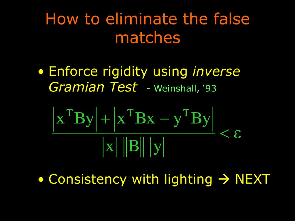 How to eliminate the false matches