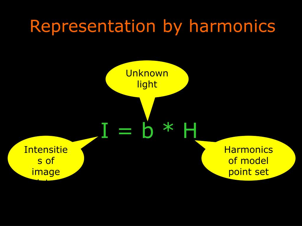 Representation by harmonics