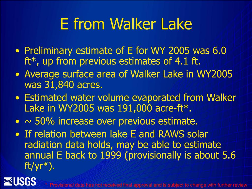 E from Walker Lake