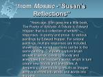 from mosaic susan s reflections