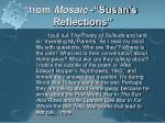 from mosaic susan s reflections1