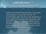little brother by bruce holland rogers