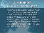 little brother by bruce holland rogers4
